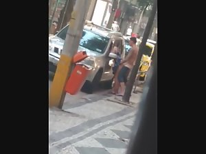 Sex on the street in broad daylight