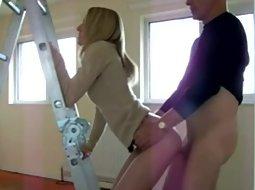 Sex next to a handy ladder