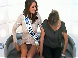 Upskirt view on miss france