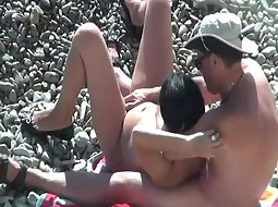 Lots of fingering on the beach