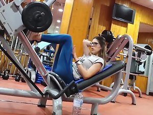 Exercise makes her look like she is begging for it