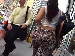 Huge ass with butt implants