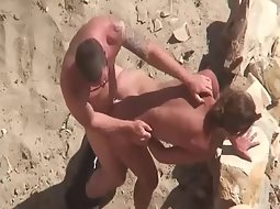 Steaming hot beach sex