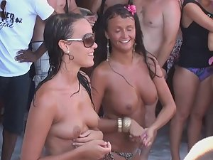 Wife shy when told to get naked at party