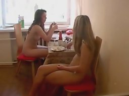 Breakfast at the nudist resort