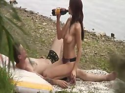 Teens caught fucking on the beach