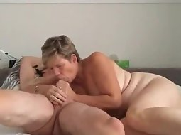 Mature couple in hard action