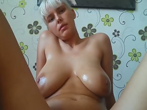 Milf with big saggy tits rides a dick