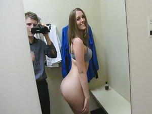 Teens having anal sex in dressing room