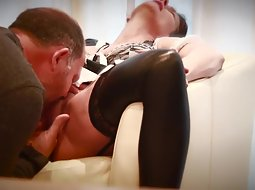 Licking wife to a loud orgasm