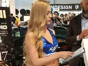 Hottest and prettiest car show hostess ever