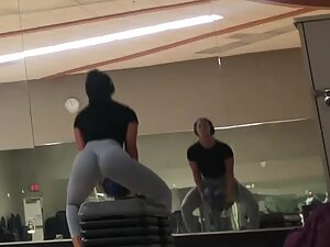 Epic butt in gym during hardcore workout