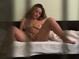Hidden cam caught her masturbating