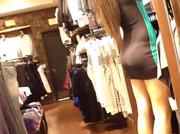 Sexy clothing store clerk