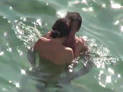 Cuddling between going swimming