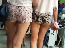 Two hot girls in shorts