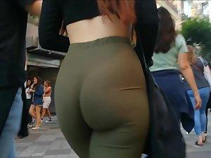 Boyfriend proudly walks with his sexy girlfriend