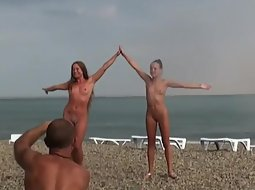Nudists posing for their husbands