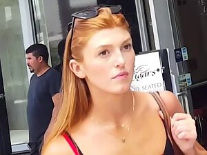 Just a gorgeous redhead spotted on the street