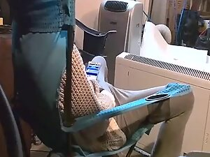 Spying on sister watching porn and masturbating