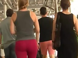 Stalking the girl in red tights