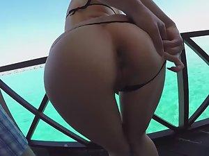 Anal sex in luxury beach resort