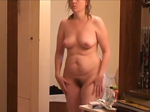 Nude wife spy caught after shower milf