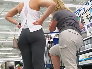 Sexy daughter shopping with fat mom