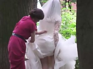Bride needed assistance to pee