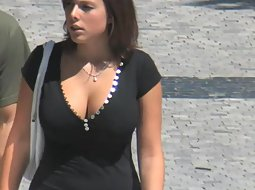 Big boobs of a pretty girl