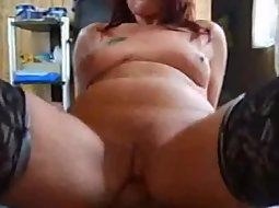 Milf sucks and rides a dick