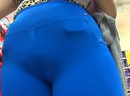 Super tight blue pants