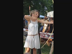 Hot girls and nice tits all over renaissance fair