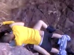 Teens caught fucking in the cliffs