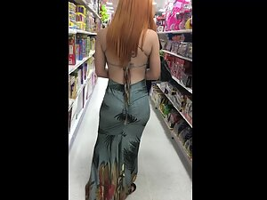 One of a kind redhead spotted in a store