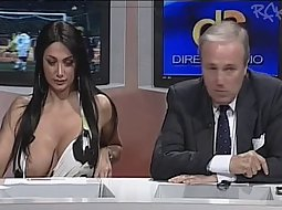 Hot busty big boobs news anchor News Reporter Shows Boobs Voyeurs Hd