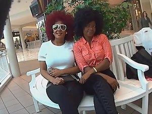 Funny voyeur helps two black women