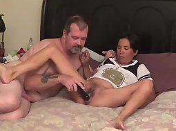 Kinky mature interracial couple