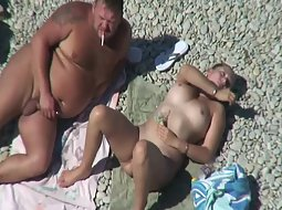 Spying fat guy's hot wife