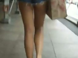 Too short shorts on the street