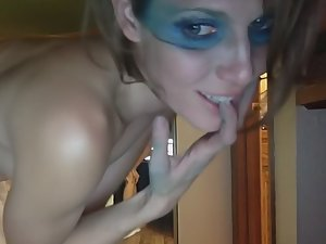Wild sex with war paint