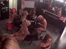 Strippers getting ready