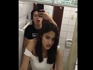 Sex selfie in public toilet gets interrupted