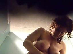 Hot woman changes after the pool