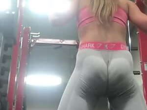 Fit ass clenching during squats
