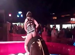 Hot ass on a mechanical bull
