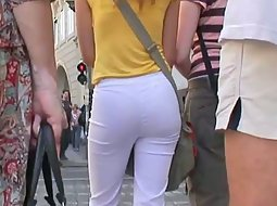 Thong under tight pants