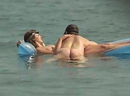 Couple enjoying the water