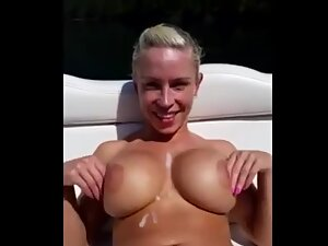 Sexy with a blonde bombshell on the boat