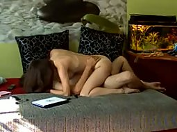 Living room sex on hidden camera